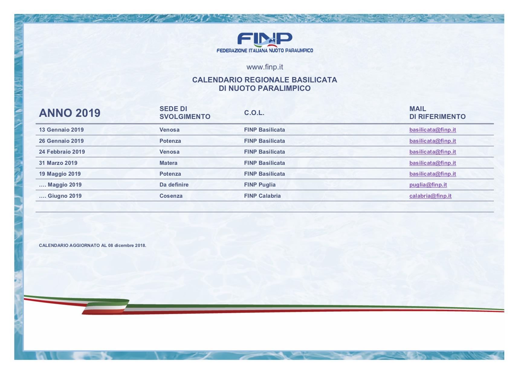 Fin Nuoto Calendario Gare.Campionato Regionale 2019 Federazione Italiana Nuoto